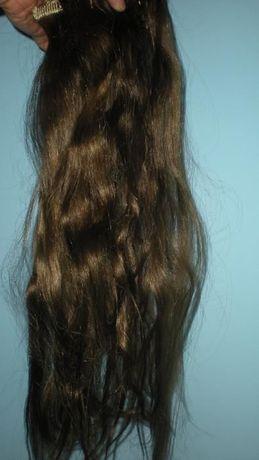 естествена коса на щипки
