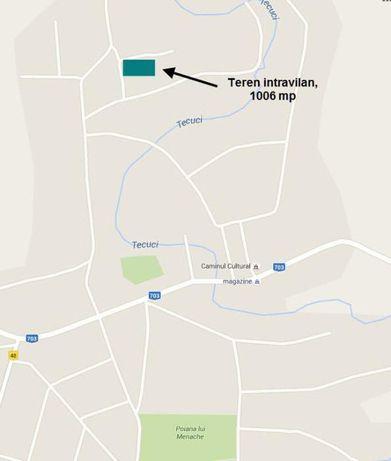 Vanzare teren intravilan - Teleorman , sat Tecuci Kalinderu (1006 mp)