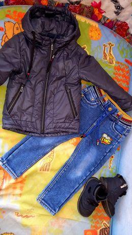 Куртка джинсы осень на 2-3 года. За все 5000 тг