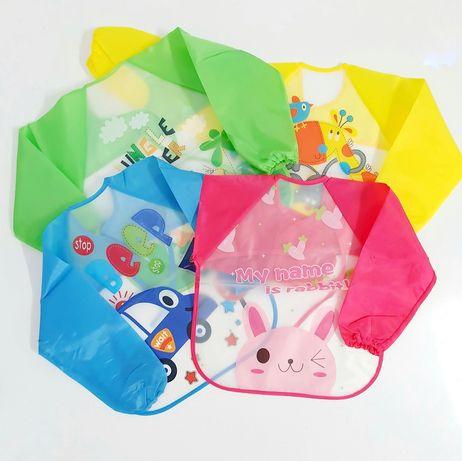 Pelerină/ bavetă/ babetica hrănire bebeluși, impermeabilă, colorată