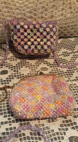 Детски -Портмоне и чанта от мъниста