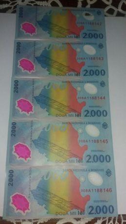 Vând bancnote 2000 lei cu eclipsa