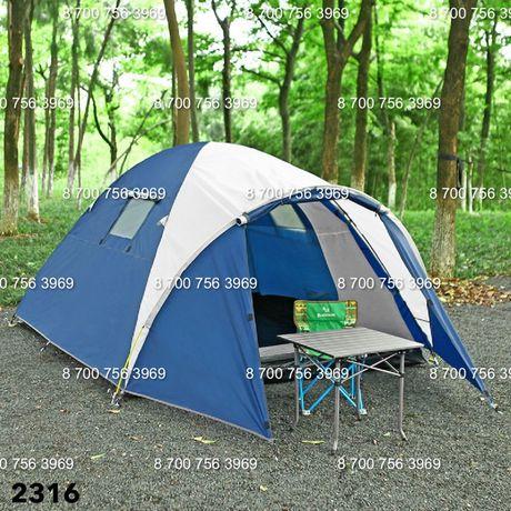 Трехместная палатка двухслойная 320х210х165см с тамбуром. Доставка.