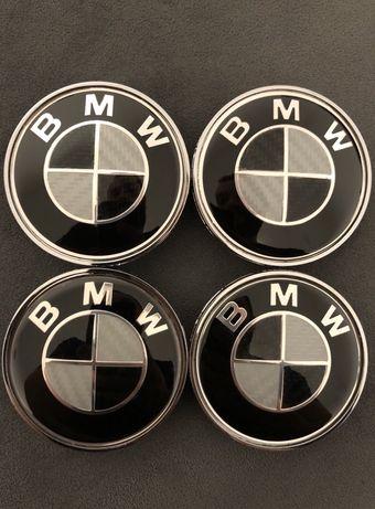 Capace Negru/Black/Carbon roti jante aliaj BMW E46 E90 E60 X1 X3 X5 X6