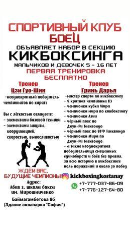 Секция кикбоксинга
