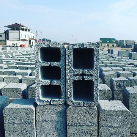 Шлакоблок гладкие заборные 150 город Шымкент