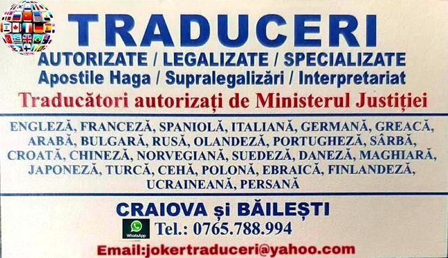 Traduceri Autorizate/Apostile Haga/Interpretariat