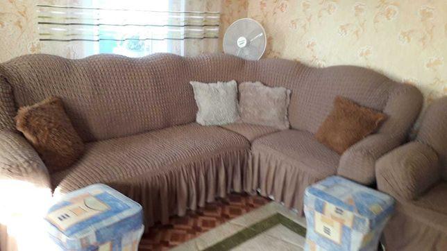 Продам диван угловой+кресло кровать.