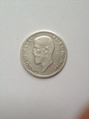Moneda argint 1 leu Regele Carol I al României 1911-femeia cu fuiorul