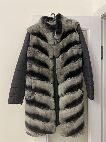 Шуба-куртка шиншилла