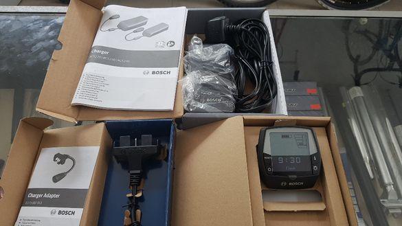 BOSCH оригинално зарядно,дисплей INTUVIA за електрически велосипед(БОШ