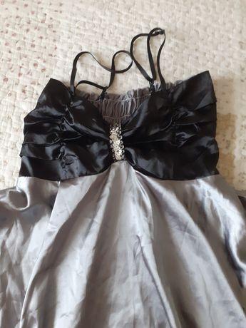 Rochie scurtă gri/negru
