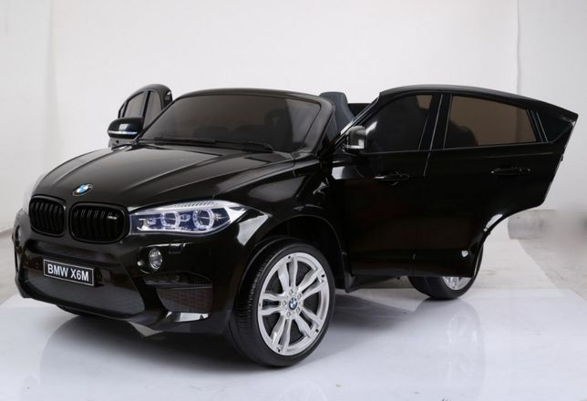 Masinuta electrica pt copii BMW X6M XXL /2 locuri/EVA/ Negru metalizat