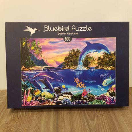 Puzzle 500 piese delfini marca Bluebird