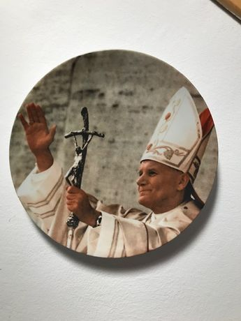 Farfurie  cu chipul  Papei Ioan Paul al II-lea editie limitata
