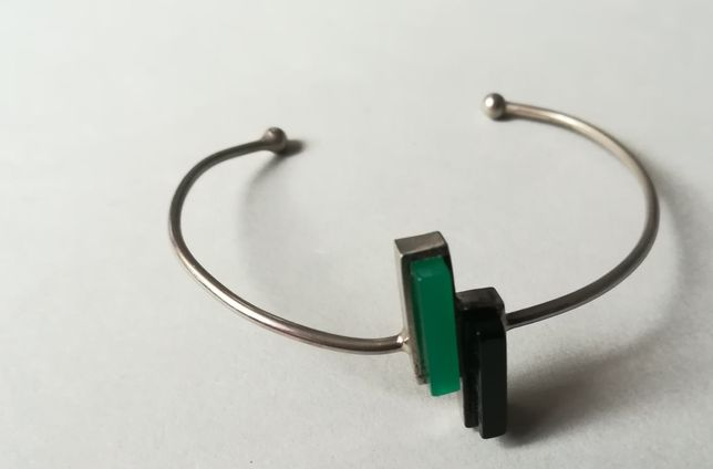 Bijuterie brățară acesoriu cadou metal verde negru