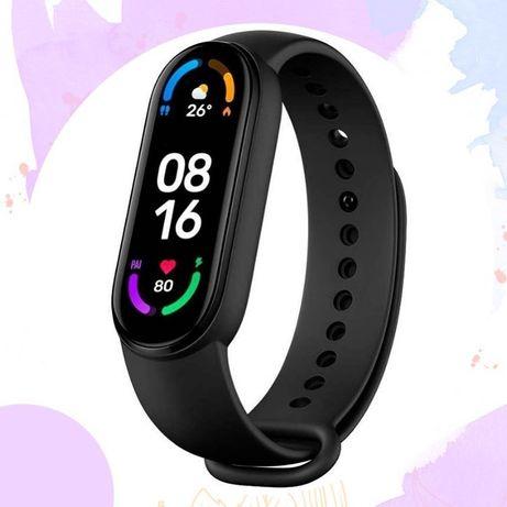 Mi Band 5 черный смарт часы фитнес чясы подарок мужу аксессуары для т