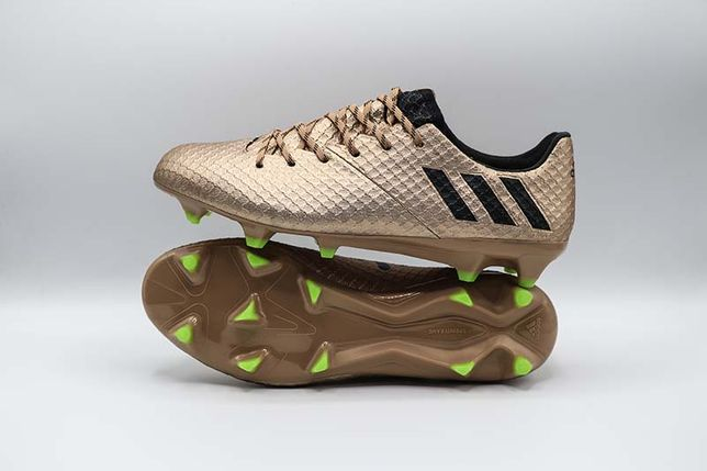 Ghete de fotbal PRO Adidas Messi 16.1 FG Gold