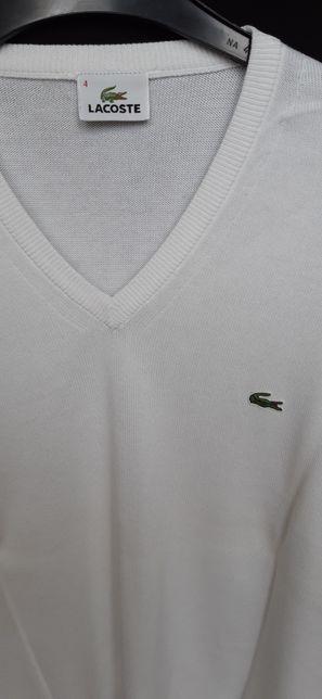 LACOSTE Pulovar tricou barbatesc subtire, alb, mas. 4 - Original