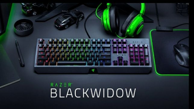 Tastatura Gaming mecanica RAZER BlackWidow, Green Switch, USB, Layout
