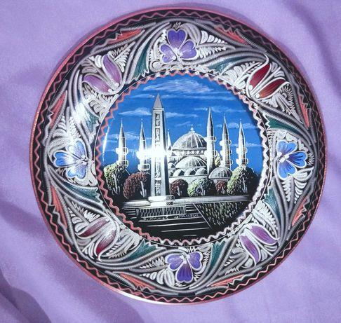 Farfurie metal Moscheea din Istanbul