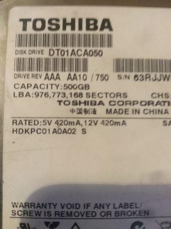 Жосткий диск 500gb