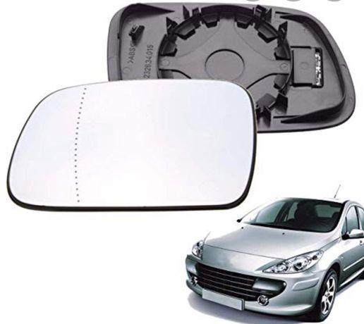 Стъкло за огледало Peugeot 407 тонирано асферично ляво/дясно