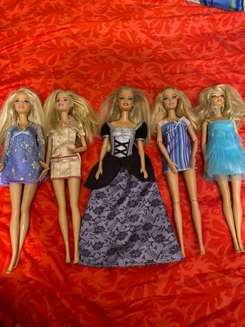Кукли Барби - 5бр. + диван и фотьойл