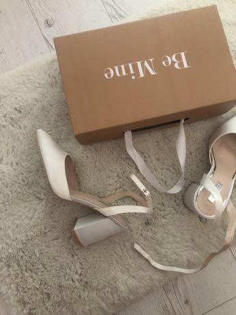 Pantofi superbi satin impecabili, purtati o data