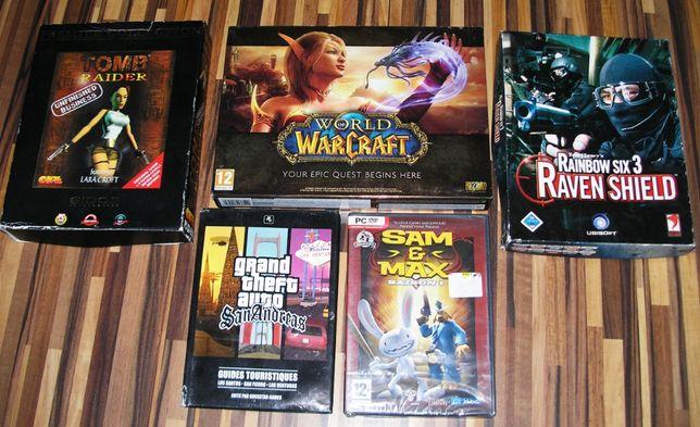 Lot 5 jocuri PC: GTA, Tomb Raider (box) , WoW, Rainbow Six 3 (box) etc