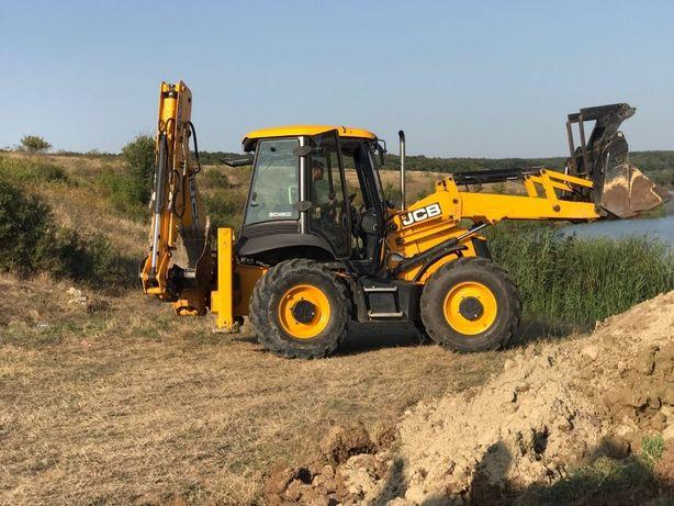 Inchiriez excavator buldoexcavator bobcat cilindru autogreder