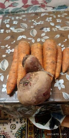 Морковь, свекла, малина с сахаром, смородина с сахаром