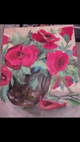 Rezervat/Tablou pictură acrilica 47/33 cm