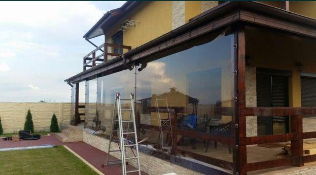 Folie PVC transparenta Cristal pentru inchidere terase si foisoare