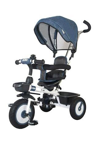 Tricicleta pentru copii cu roti din cauciuc si rulmenti otel