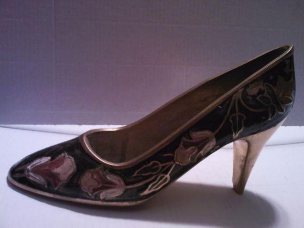 Pantof dama vintage alama bronz emailat Anglia