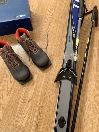 Беговые профессиональные лыжи, палки, ботинки от TISA Австрия.комплект