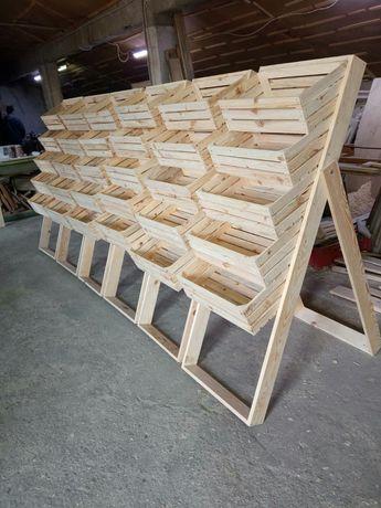 Стелажи от дървени щайги - различни модели.