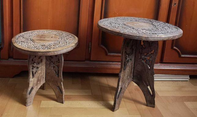 Măsuțe orientale de cafea din lemn de piper gravat și traforat