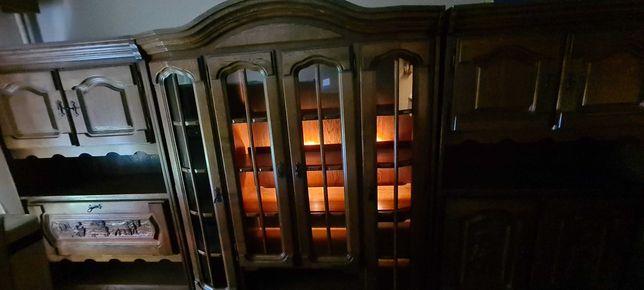 Mobila de sufragerie, din lemn masiv, sculptata, clasica vintage,3,35m