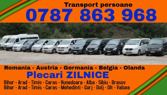 ZILNIC transport persoane tm t Romania Austria Germania plecari adresa
