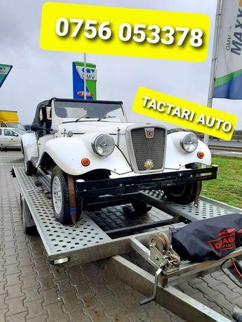 Tractari auto Ieftin Ramnicu Valcea platforma non stop transport
