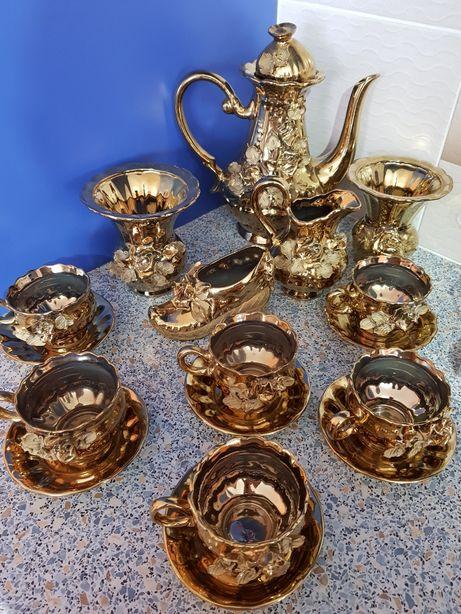 Set ceai/cafea aurit