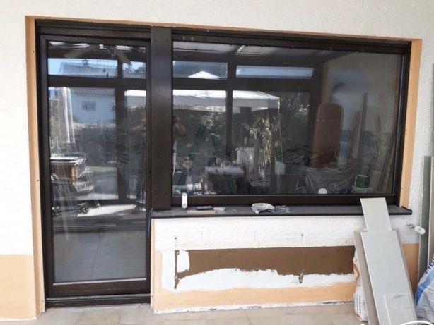 Ansamblu usa terasa luminator lemn geam termopan Germania