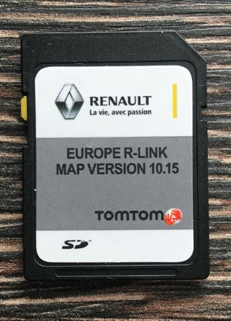 RENAULT TomTom R-LINK V10.15 SD CARD Навигационна 2020 год. сд карта