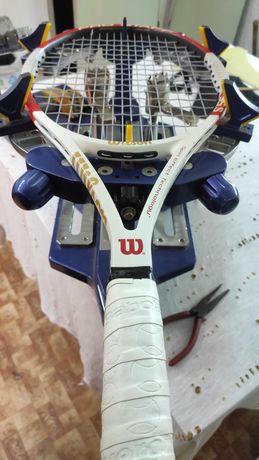 Наплитане на тенис ракети
