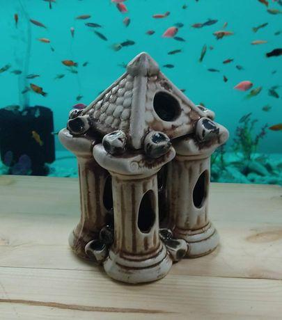 Аквадекор, беседка в аквариум