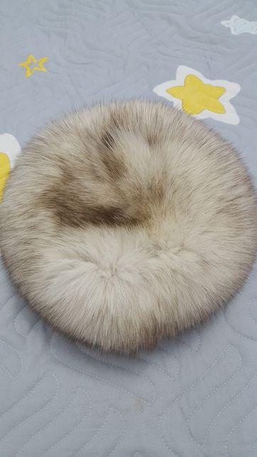 Caciula blana naturala de vulpe