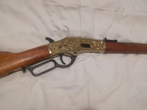 Пушка Winchester 1873. Най-луксозната каубойска пушка. РЕПЛИКА
