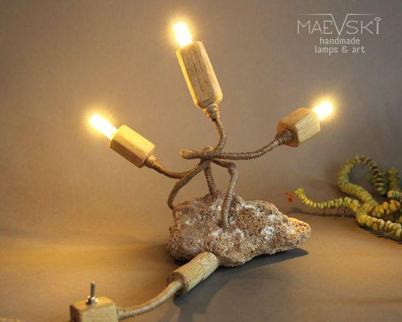 Maevski handmade laps, дизайнерска ръчно правена лампа.